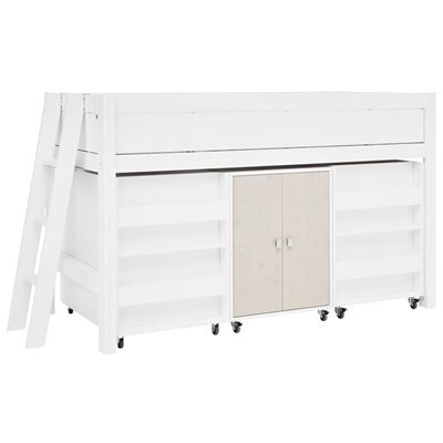 COOL KID SEMI HIGH BUNK BED with storage