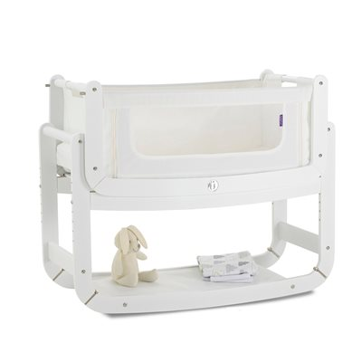 SNUZPOD 2 3-in-1 BEDSIDE CRIB including Mattress in Eco-White