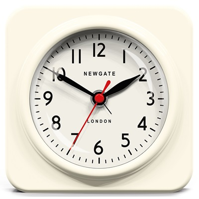 NEWGATE BISCUIT Retro Alarm Clock in White