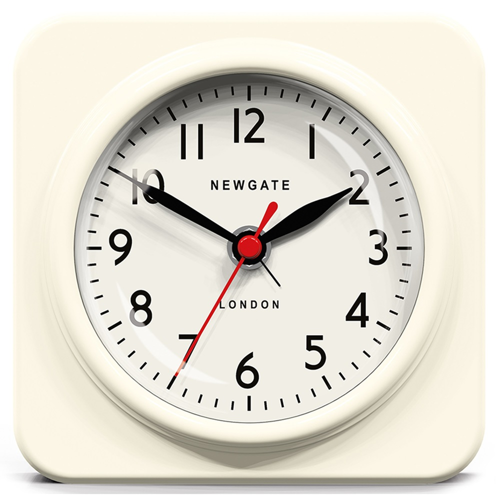 Newgate Biscuit Retro Alarm Clock In White Newgate Clocks Cuckooland
