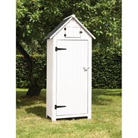 BEACH HUT TOOL SHED in White