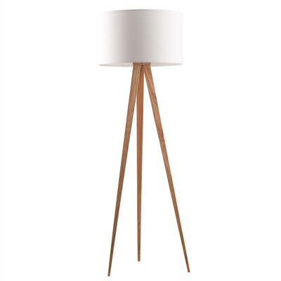 ZUIVER WOODEN TRIPOD LAMP in White