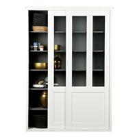 DISPLAY CABINET WITH SLIDING DOORS in White