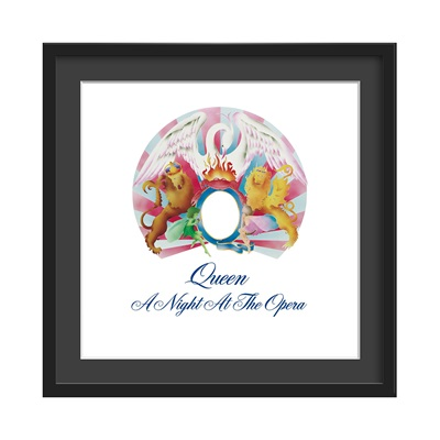 QUEEN FRAMED ALBUM WALL ART in A Night At The Opera Print