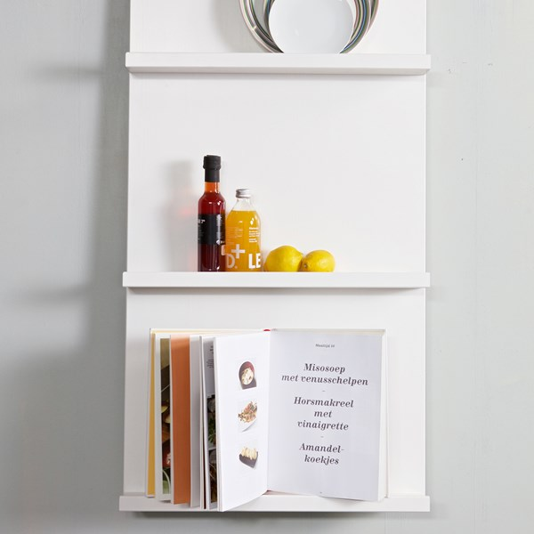 Wall Mounted Display Shelf in White