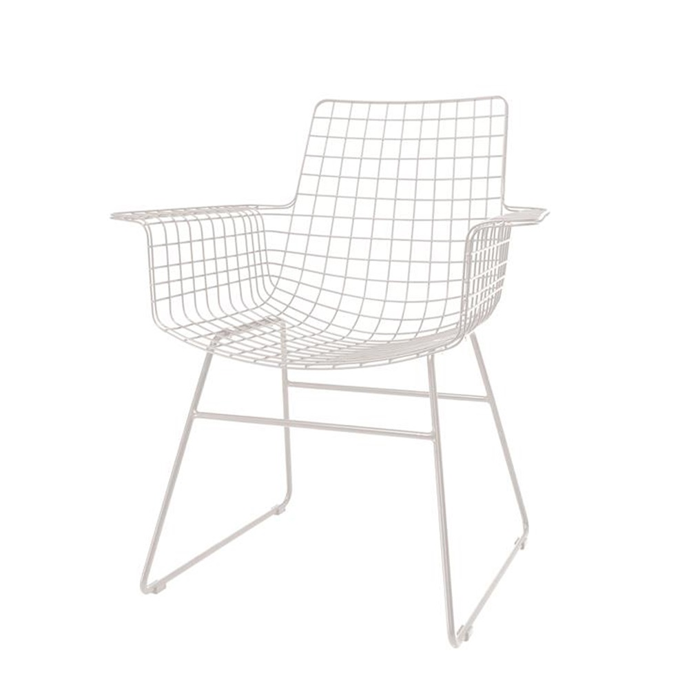 Wire Armchair | Scandi Style Wire Armchair In White Hk Living Cuckooland