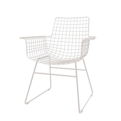 scandi style wire armchair in black