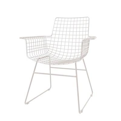 Good White Wire Armchair ...