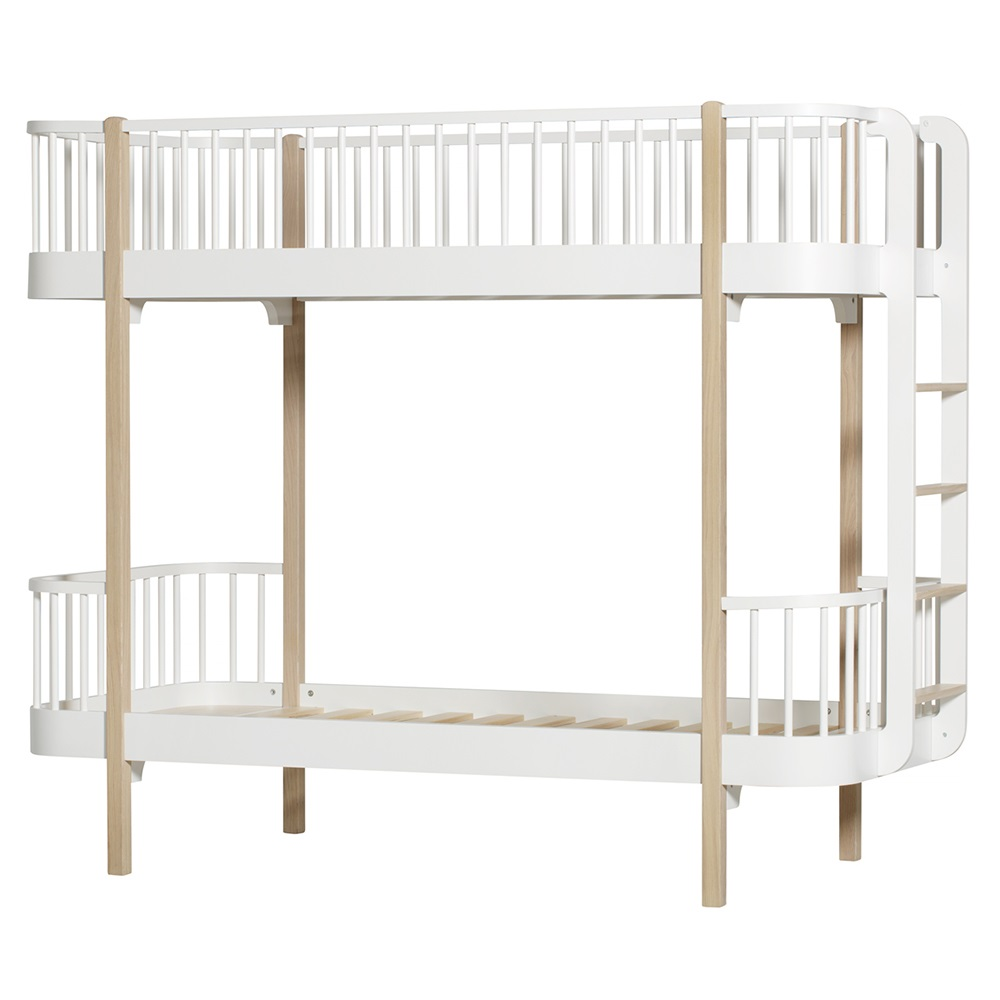 childrens luxury bunk bed in white oak bunk beds cuckooland. Black Bedroom Furniture Sets. Home Design Ideas