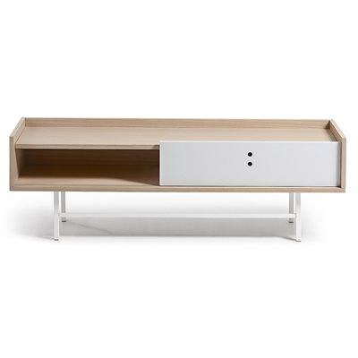 LISH WOODEN TV UNIT in White and Oak