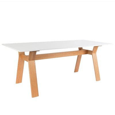 ZUIVER CONTEMPORARY DINING TABLE in White & Oak