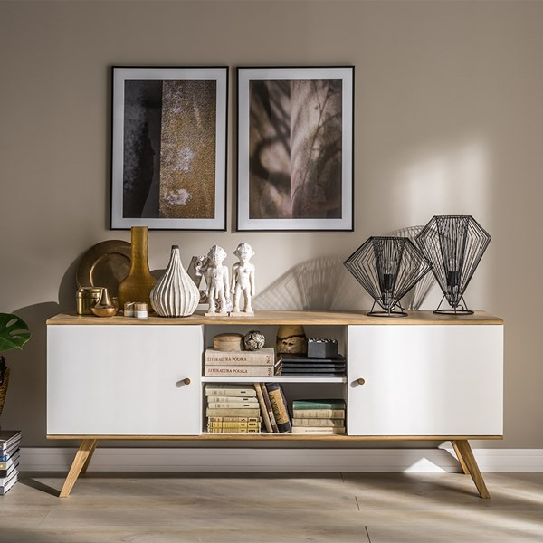 Nature Wide Sideboard in White & Oak