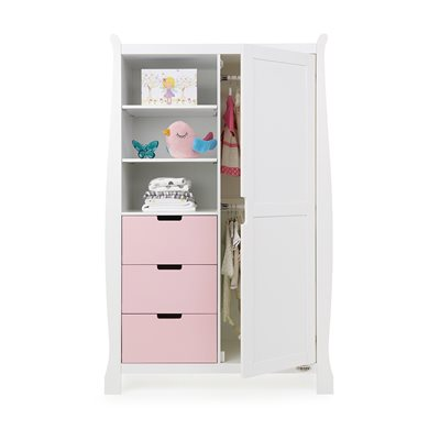 Obaby Stamford Double Wardrobe in Eton Mess & White