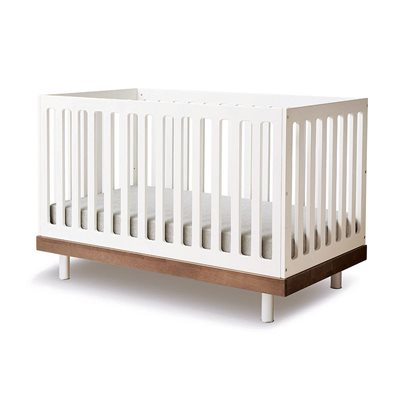 Oeuf Classic Cot Bed in White & Walnut