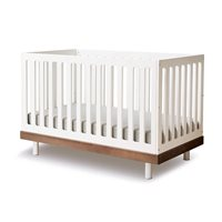 Product photograph showing Oeuf Classic Cot Bed In White Walnut