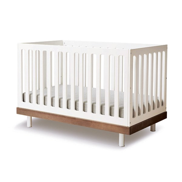 Oeuf Classic Cot Bed in White and Walnut