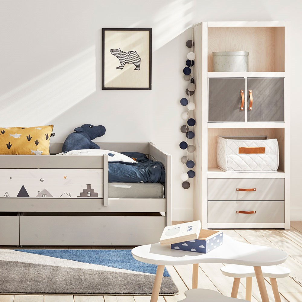 Lifetime Whitewash Bed.Lifetime Customisable Bookcase In Whitewash