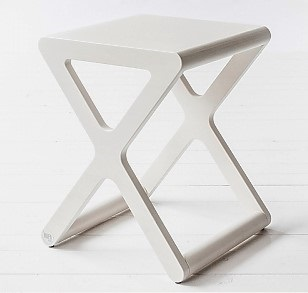 X Designer Kids Stool in Whitewash Wood