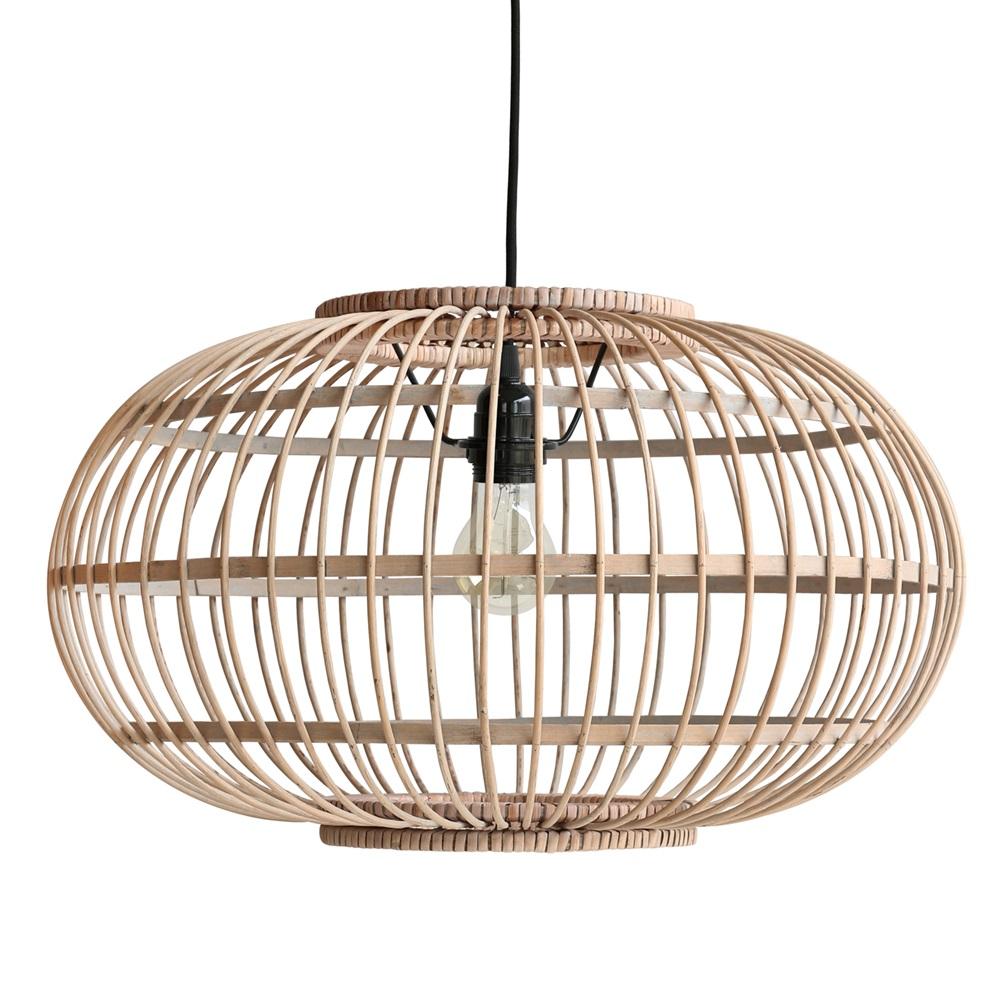 bamboo hanging ceiling light in natural finish hk living. Black Bedroom Furniture Sets. Home Design Ideas