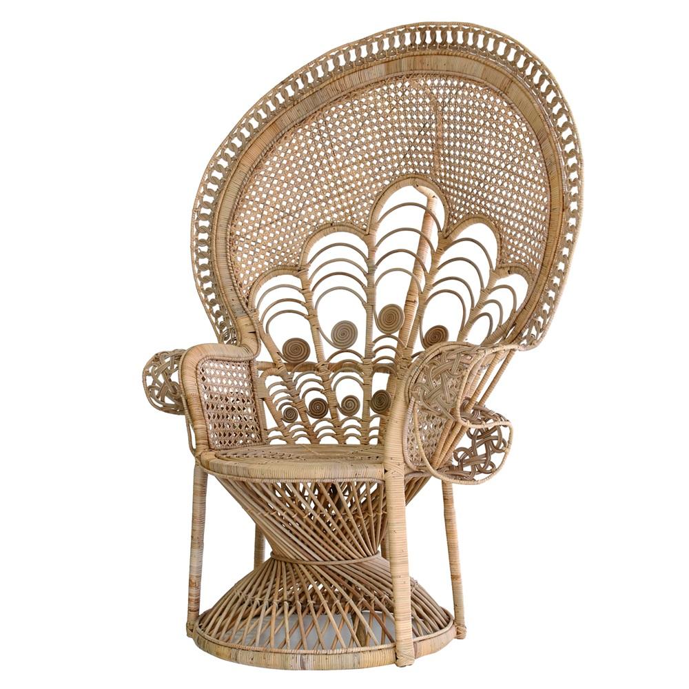 Vintage rattan chair -  Wicker Peacock Chair Jpg