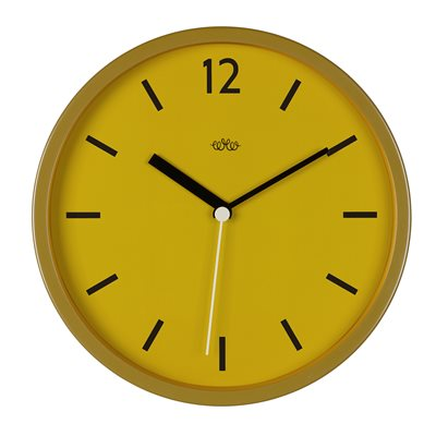 RETRO STYLE WALL CLOCK in English Mustard