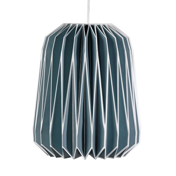 Nuvola Paper Lamp Shade in French Blue