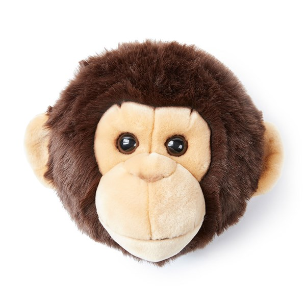 Joe the Monkey Kids Plush Animal Head Wall Decor