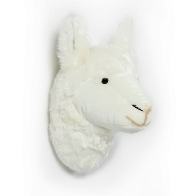 Lily the Llama Kids Plush Animal Head Wall Decor