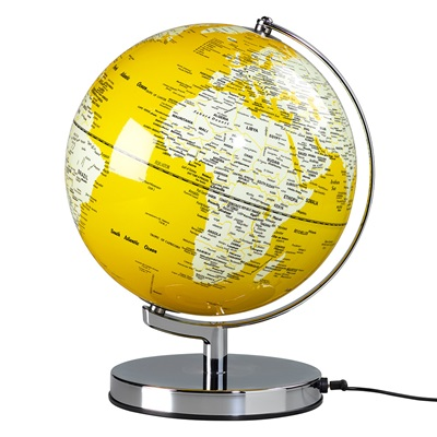"Wild & Wolf Light Up 10"" Globe in English Mustard Yellow"
