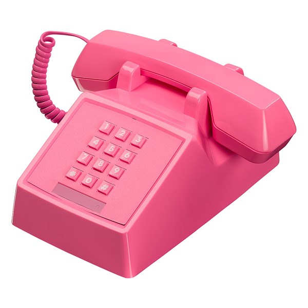 Retro 2500 Telephone in Flamingo Pink