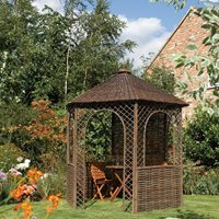 ROWLINSON WILLOW GARDEN GAZEBO in Brown