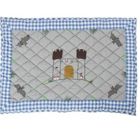 KNIGHTS CASTLE Floor Quilt by Win Green  Small