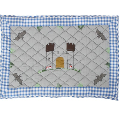 KNIGHTS CASTLE Floor Quilt by Win Green