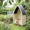 Winchester Outdoor Arbour in Natural Timber by Rowlinson
