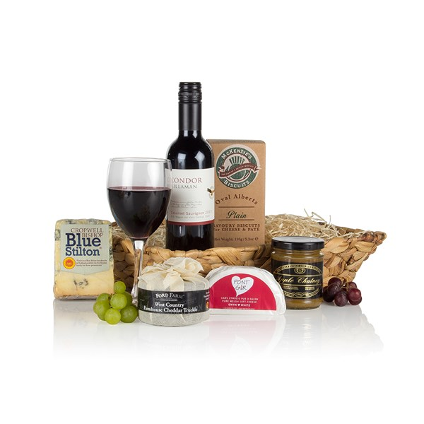 Wine And Cheese Christmas Hamper Selection