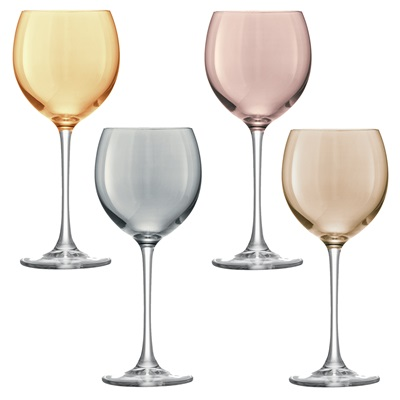 LSA POLKA WINE GLASS 4 Piece Set
