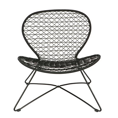 INDOOR / OUTDOOR  FAUTEUIL CHAIR in Black