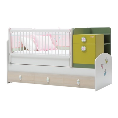 COT BED AND STORAGE in Wingy Design