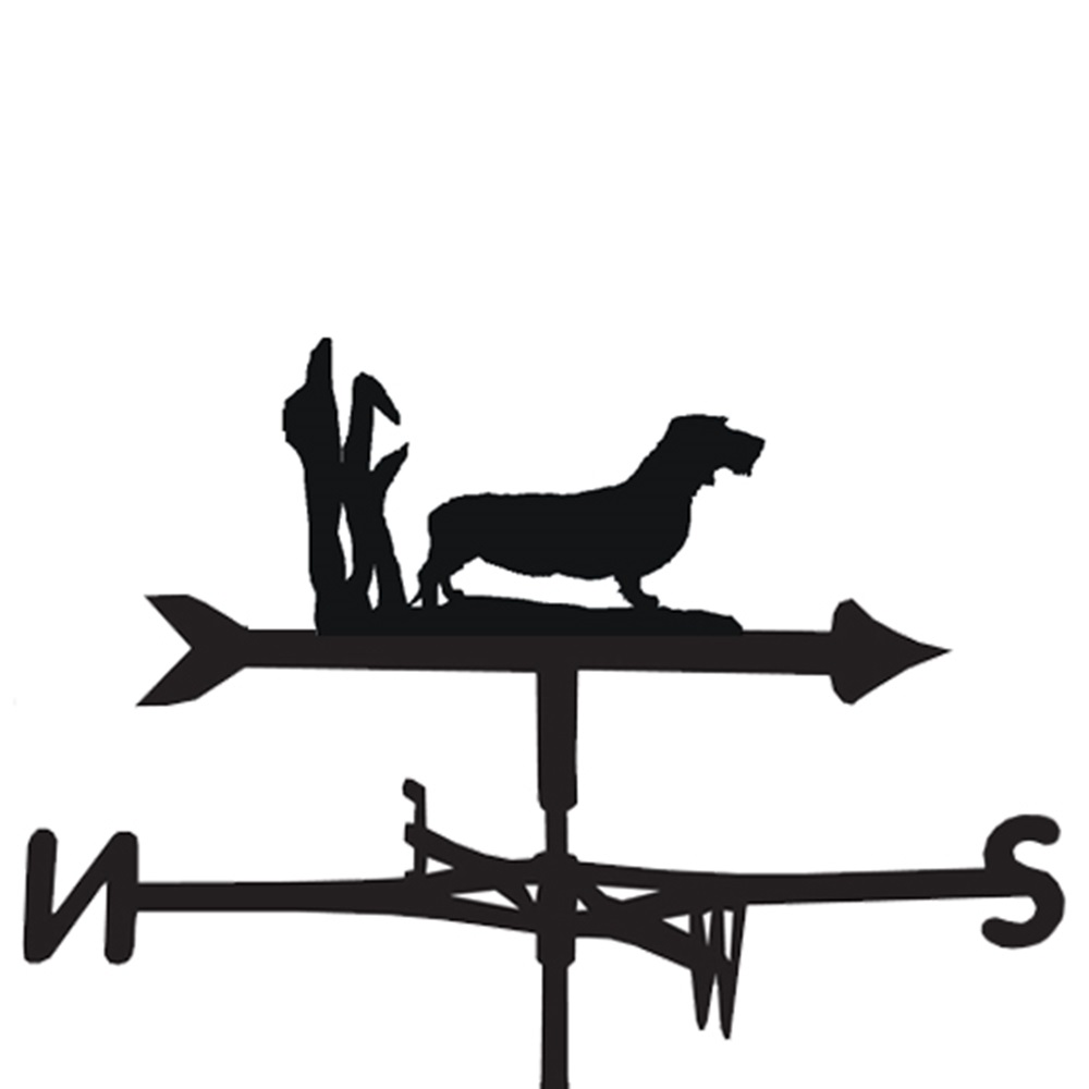 Weathervane In Wire Haired Dachshund Design Dogs P Z