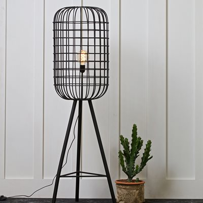 HURRICANE METAL FLOOR LAMP in Black by Be Pure Home