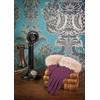 Luxury Woollen Gloves In Purple