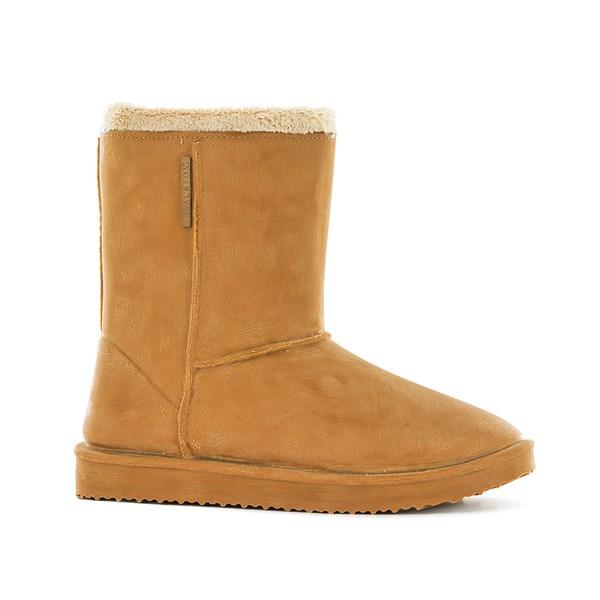 Waterproof Sheepskin Style Ladies Snug Boot in Caramel