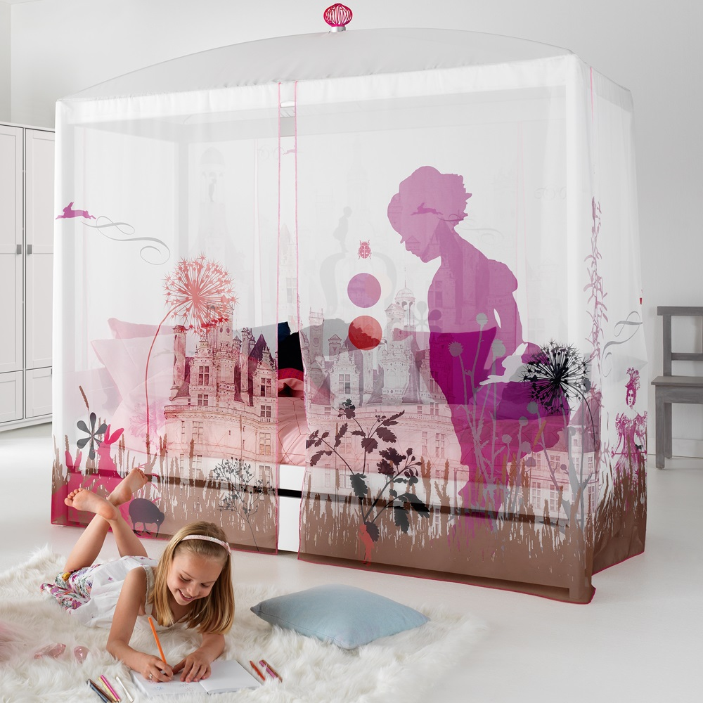 WONDERLAND LUXURY GIRLS 4 POSTER BED. Fairy   Ballerina Themed Beds   Bedrooms For Kids   Cuckooland