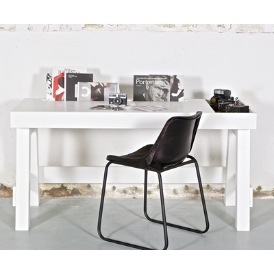 CONTEMPORARY OFFICE & COMPUTER DESK in White Pine