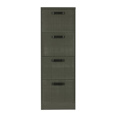 WOODEN FILING CABINET in Forest Green by Be Pure Home
