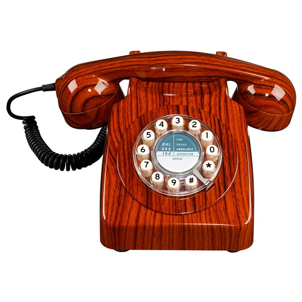 Unique Wood Design Retro 60s Phone