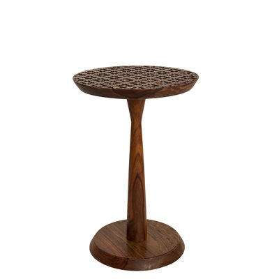 SIDE TABLE with Flower Detail