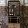 Bar Cabinet with Rack and Drawers