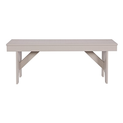 LOET WOODEN BENCH in Taupe