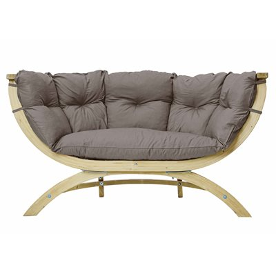 SIENA DUE GARDEN BENCH in Weatherproof Taupe